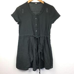 J Crew Gray 100% Cotton Lagenlook Dress
